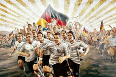 Die Mannschaft Art World Cup 2018, Fifa World Cup, We Are The Champions, Crazy Fans, Football Soccer, Fair Grounds, Germany, Kicks, Sports