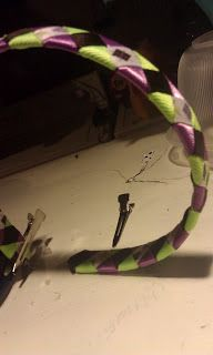 Blog of a Crafty Girl: Woven Ribbon Headband Tutorial DIY