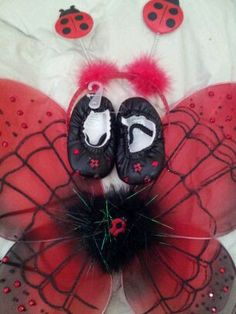 ladybug wings headband and shoes to match ladybug tutu