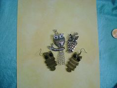 OWLS for Necklace or Earrings.  DIY projects by MyGrandmasHome, $8.99