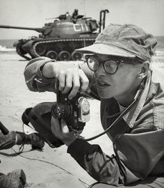 Dickey Chapelle, born Georgette Louise Meyer, was an American photojournalist known for her work as a war correspondent from World War II through the Vietnam War. Photo, 1959