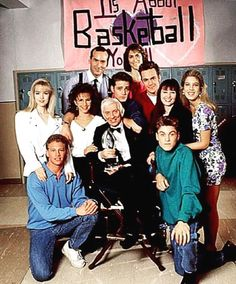 The cast of Beverly Hills 90210 ~ with Aaron Spelling