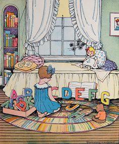 Dorothy Whidden alphabet illustration by Crossett Library Bennington College, via Flickr