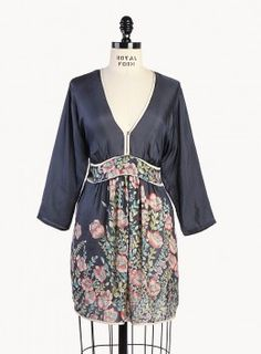 Embroidered Tie Waist Top - Plus Size