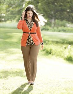 The Chelsea Cardigan tops it all with impeccable style! #LaneBryant  I would wear this in different color top.