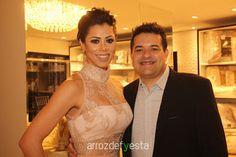 Ellen Vieira e Silva e Gerson Pavani receberam convidados ontem no coquetel de inauguração da Megne Colchões e Enxovais. Confira as fotos no site www.arrozdefyesta.net.