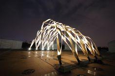 Pavilion at Shanghai Central Park, photo by: Markus Wikar Architecture Concept Drawings, Pavilion Architecture, Sustainable Architecture, Residential Architecture, Contemporary Architecture, Landscape Architecture, Landscape Design, Architecture Design, Wood Structure
