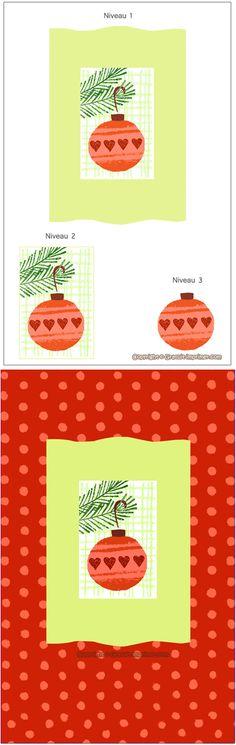 DIY bricolage carte de voeux pour Noël! Cliquez sur l'image pour télécharger la carte gratuitement : CARTE NOEL en 3D GRATUITE A FABRIQUER