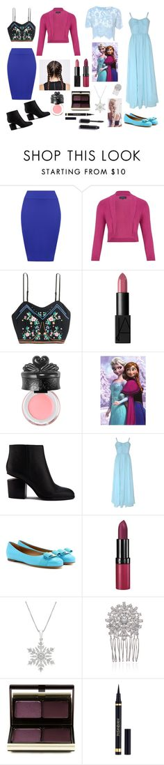 """""""Anna and Elsa Disney Bound"""" by nikkig2426 ❤ liked on Polyvore featuring WearAll, Viyella, NARS Cosmetics, Anna Sui, Alexander Wang, True Decadence, Salvatore Ferragamo, Rimmel, Marchesa and Kevyn Aucoin"""