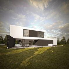House in Radomierzyce by S3NS Architektura - Igor Kazmierczak, via Behance