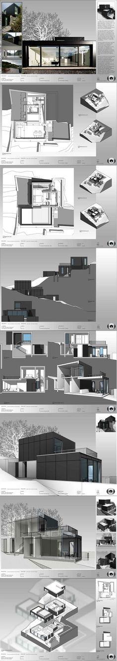 BIM (Building Information Modeling): Sample Presentation Revit Architecture, Architecture Graphics, Architecture Board, Architecture Portfolio, Rendering Architecture, Architecture Diagrams, Architecture Presentation Board, Presentation Layout, Presentation Boards