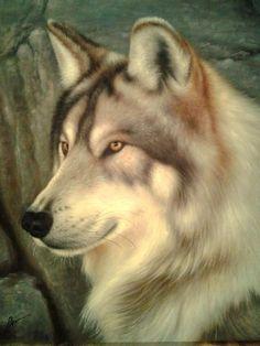 Бруно Августо. Волк (арт)  холст/масло 80см x 70см 2014 г.