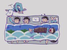 Osomatsu-san- Osomatsu, Karamatsu, Choromatsu, Ichimatsu, Jyushimatsu, and Todomatsu #Anime「♡」 Funny Scenes, Japanese Cartoon, Ichimatsu, Cute Little Things, Manga Illustration, Light Novel, Manga Comics, Game Character, Me Me Me Anime