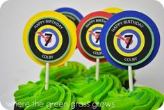Laser Tag Cupcake Toppers