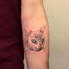 #tattoo #cat #portrait