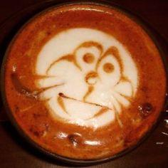 Creature.  #love #art #cool #latteart #latte #espresso #espressosteam #espressoart #craftcoffee #coffeeart #coffeeroaster #coffee #coffeetime #coffeelover #coffeeaddict #coffeeshop #cafe #caffeine #lattemacchiato #baristalife #happy