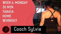 Week 4: MONDAY- 30Min TABATA Total Body Home Workout - For all Levels Gym Workouts, At Home Workouts, Cycling Coach, Rear Delt, Arms And Abs, Health Goals, Tabata, Total Body, Coaching