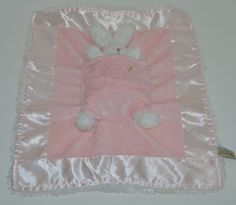 Bunnies By Bay Baby Security Blanket Lulla Bunny Bye Pink White Rattle Pocket #BunniesbytheBay http://stores.ebay.com/Lost-Loves-Toy-Chest/_i.html?image2.x=28&image2.y=9&_nkw=baby+blanket