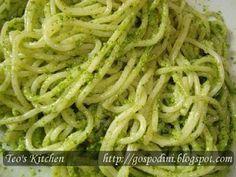 Spaghette cu pesto din leurda - Retete culinare by Teo's Kitchen
