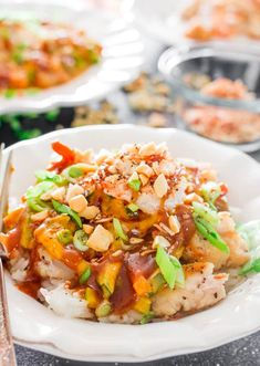Copycat Cheesecake Factory Bang Bang Chicken and Shrimp - a replica of the popular Bang Bang Chicken and Shrimp, it's out of this world delicious!