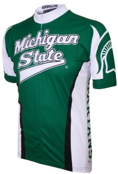 Ncaa Men s Adrenaline Promotions Michigan State Spartans Road Cycling Jersey-X-Large da69f73aa