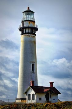 Pigeon Point Lighthouse by Phyllis Plotkin on Nautilus Submarine, Lighthouse Pictures, Lighthouse Painting, Point Light, Candle In The Wind, Beacon Of Light, Autumn Scenery, Chula, Am Meer
