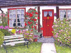 floral ~ Rose Cottage by Thelma Winter