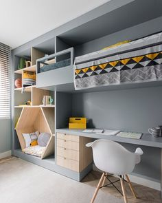 Bedroom İdeas For Each Child - 30 Fabulous Room Ideas For Children Who Love Colors New 2019 kids room; kids room ideas for boys; room ideas for boys Kids Room Design, Home Design, Design Ideas, Cool Room Designs, Playroom Design, Design 24, Design Case, Nursery Design, Bed Design