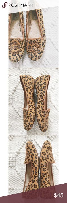 Leather Leopard Print UGG Loafers Leather Leopard Print UGG Loafers.  Never worn, new condition.  Women's size 8.  No box. UGG Shoes Flats & Loafers