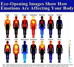 Eye-Opening Images Show How Emotions Are Affecting Your Body happy life happiness pain positive emotions healthy lifestyle health mental health healthy living remedies remedy infographic self improvement infographics all natural self help emotional health