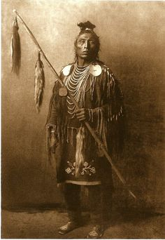 Medicine Crow, Apsaroke war chief (1908) postcard, photo by Edward S. Curtis, Azusa Publishing, Englewood, Colo., c2006