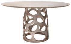 Shop the Oly Studio Orson Modern Classic Pedestal Base Dining Table - Medium and other Dining Tables at Kathy Kuo Home Dining Table, Furniture Dining Table, Mosaic Coffee Table, Brown Nightstands, Modern Classic, Gold Etagere, Tall Side Table, Oly Studio, Home Decor