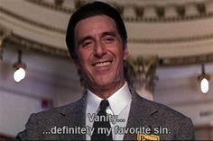 """Al Pacino interpreta l'avvocato John Milton alias Satana ne """"L'avvocato del diavolo"""", 1997. L'avvocato si chiama Milton come l'autore del poema """"Paradiso Perduto"""" (1667) che ho recensito."""