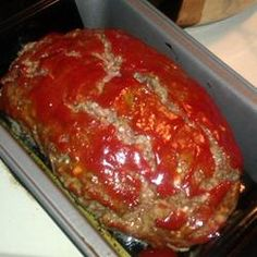 "hamburger meat recipes ""This is a very easy and no fail recipe for meatloaf. Hamburger Meat Recipes, Meatloaf Recipes, Crockpot Recipes, Cooking Recipes, Meatloaf Recipe 1lb Ground Beef, Homemade Meatloaf, Meat Loaf Recipe Easy, Easy Meatloaf Recipe Allrecipes, Easy Meatloaf Recipe With Bread Crumbs"