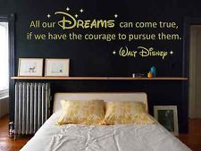 "Walt Disney ""Dreams"" Vinyl Wall Art Quote Decal Sticker. Adult Or Children"