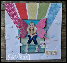 Artisan Wednesday Wow Blog Hop- Swallowtail Scrapbook Page