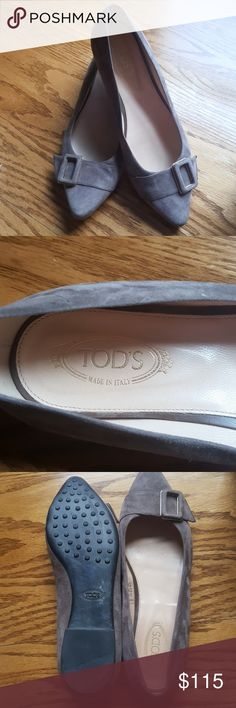 Tod's womens shoes 🌻HOST PICK🌻 EUC Tod's womens size 6.5  baige suede ballet flat Tod's Shoes Flats & Loafers