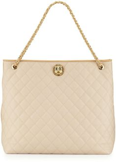 Love this: Borsa Quilted Fauxleather Tote Beigeivory @Lyst