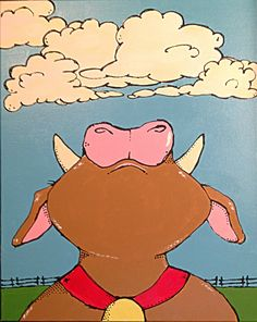 Head in the clouds cow Winnie The Pooh, Cow, Disney Characters, Fictional Characters, Clouds, Fantasy Characters, Pooh Bear, Stuffing, Cloud
