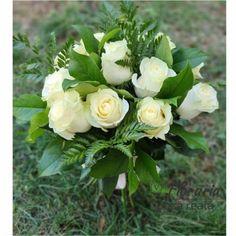 Buchet 11 Trandafiri Albi Floral Wreath, Wreaths, Decor, Horsehair, Floral Crown, Decoration, Door Wreaths, Deco Mesh Wreaths, Decorating