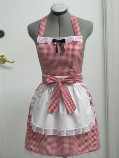 Little Red Riding Hood Apron Great Costume For by ApronsByVittoria, $37.00
