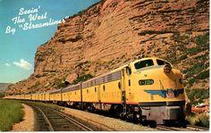 Vintage Postcard, Union Pacific Railroad, Train,1940s or 50s. $6.00, via Etsy.