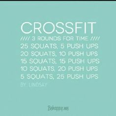 Crossfit workout great wod for vaca's nothing needed