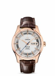 OMEGA Watches: De Ville Hour Vision Annual Calendar - Red gold on leather strap - 431.63.41.22.02.001