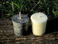 Altar Candle Set ~ Black and White Altar Candles