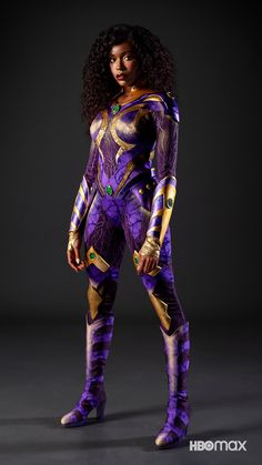 """Anna Diop on Twitter: """"Koriand'r 🤍🤍🤍 @DCTitans @hbomax… """" Series Dc, Dc Comics Series, Robert Englund, Starfire Titans, Starfire Dc, Starfire Costume, Red Hood Costume, Injustice Game, Anna Diop"""
