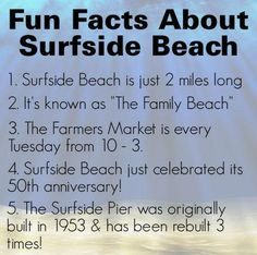 Fun facts about Surfside Beach, SC
