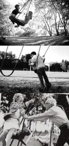 I die! This is amazing! I want my old man husband to push me on a swing like that one day.