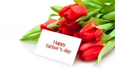 Happy Fathers Day With Flower