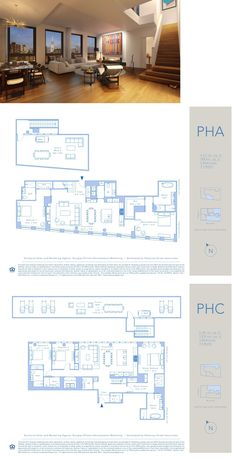 242 Broome Street - Penthouse A / Penthouse C Richard Meier, Apartment Plans, Lower East Side, Penthouses, Plan Design, Condominium, Apartments, Sims, Skyscraper